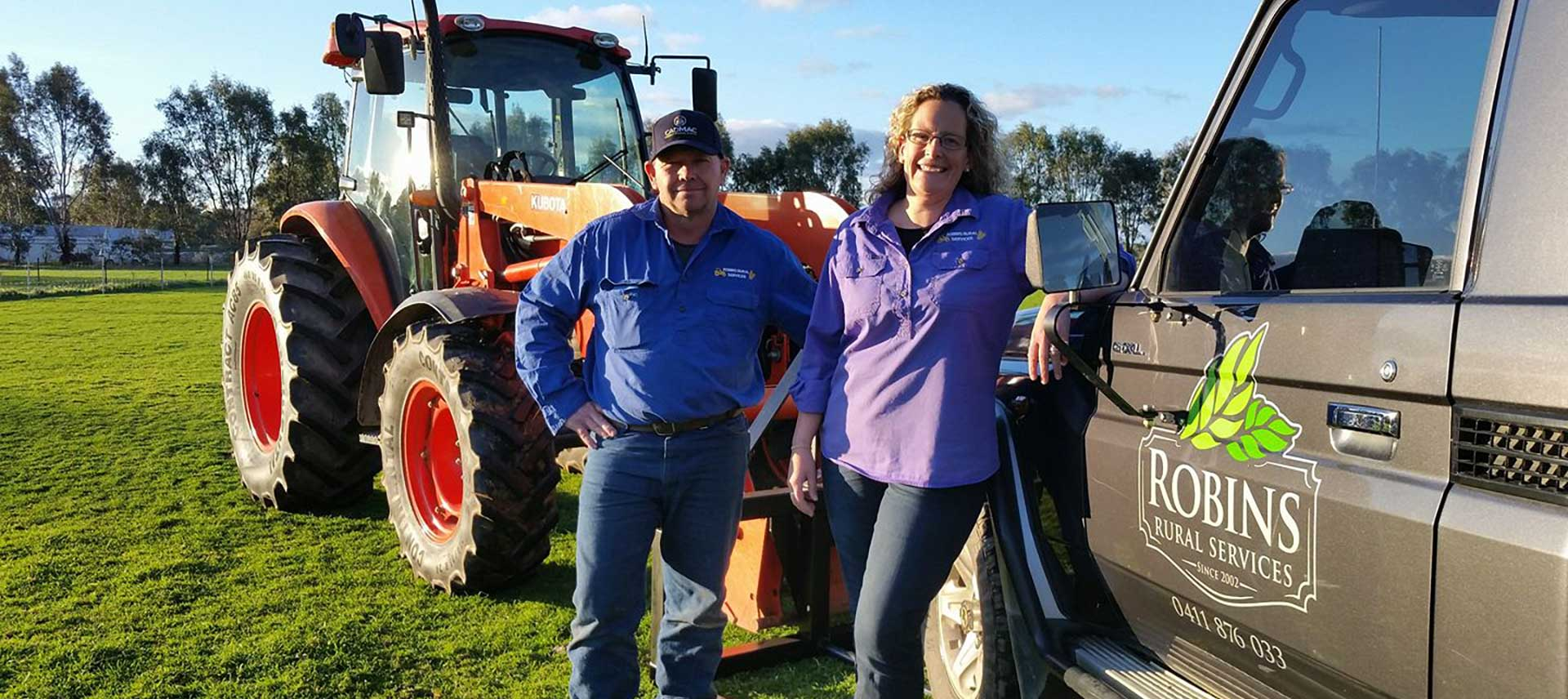 Steve & Lucy Robins have 15 years of agricultural development experience.